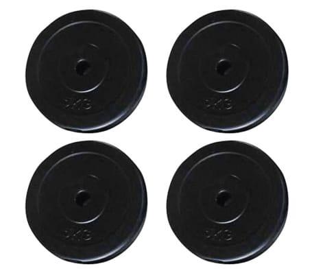 vidaXL Máquina de musculación con discos de peso 40 kg[7/8]
