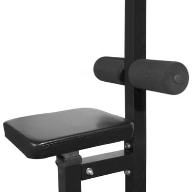 vidaXL Máquina de musculación con discos de peso 40 kg[4/8]