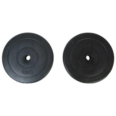 vidaXL Máquina de musculación con discos de peso 40 kg[8/8]