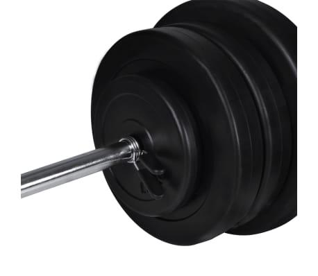 vidaXL Tour de musculation murale avec jeu d'haltères et poids 60,5 kg[9/10]