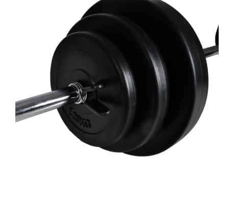vidaXL Tour de musculation murale avec jeu d'haltères et poids 30,5 kg[8/9]