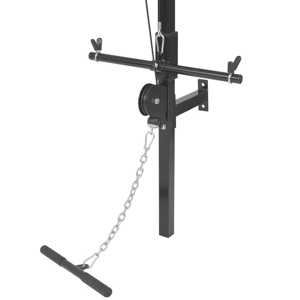 Krachttoren voor aan de wand met gewichtsschijven 40 kg