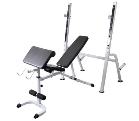vidaXL Banc d'entraînement et support de poids jeu d'haltères 60,5 kg[2/11]