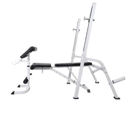 vidaXL Banc d'entraînement et support de poids jeu d'haltères 60,5 kg[3/11]