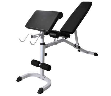 vidaXL Banc d'entraînement et support de poids jeu d'haltères 60,5 kg[5/11]