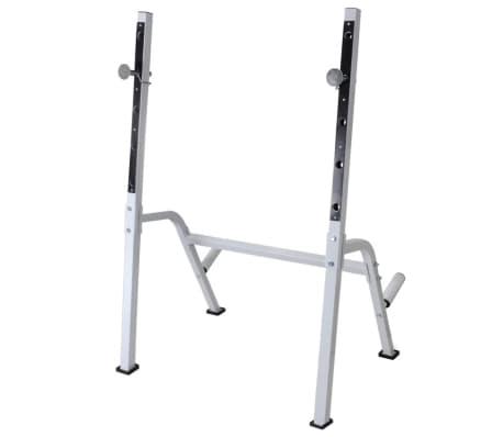 vidaXL Banc d'entraînement et support de poids jeu d'haltères 60,5 kg[7/11]