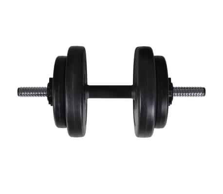 vidaXL Banc d'entraînement et support de poids jeu d'haltères 60,5 kg[9/11]