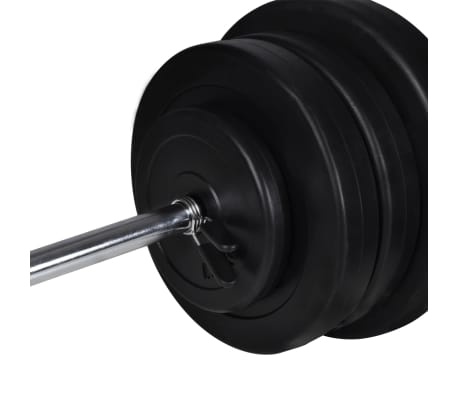 vidaXL Banc d'entraînement et support de poids jeu d'haltères 60,5 kg[10/11]
