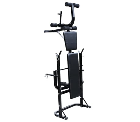 vidaXL Panca Multifunzione Bilanciere Set Manubri 60,5 kg Allenamento Fitness