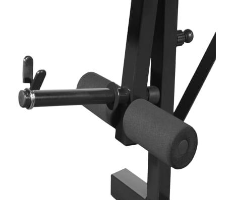 vidaXL Bancă fitness cu rastel greutăți, set haltere/gantere, 30,5 kg[4/8]