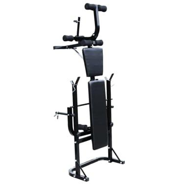 vidaXL Bancă fitness cu rastel greutăți, set haltere/gantere, 30,5 kg[3/8]