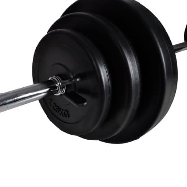 vidaXL Bancă fitness cu rastel greutăți, set haltere/gantere, 30,5 kg[7/8]