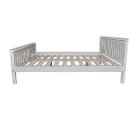 vidaXL Lit avec matelas mousse à mémoire Blanc Pin massif 180 x 200 cm[3/14]
