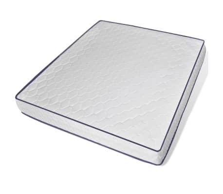 vidaXL Lit avec matelas mousse à mémoire Blanc Pin massif 180 x 200 cm[8/14]