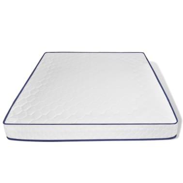 vidaXL Lit avec matelas mousse à mémoire Blanc Pin massif 180 x 200 cm[9/14]