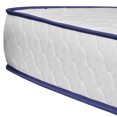 vidaXL Lit avec matelas mousse à mémoire Blanc Pin massif 180 x 200 cm[10/14]