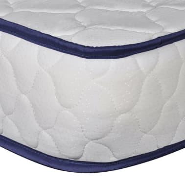 vidaXL Lit avec matelas mousse à mémoire Blanc Pin massif 180 x 200 cm[11/14]