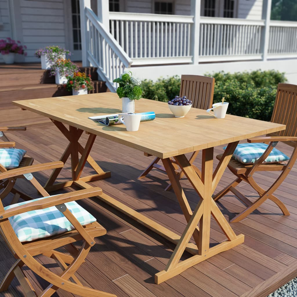 vidaXL Zahradní jídelní stůl z masivního teaku 180 x 90 x 75 cm