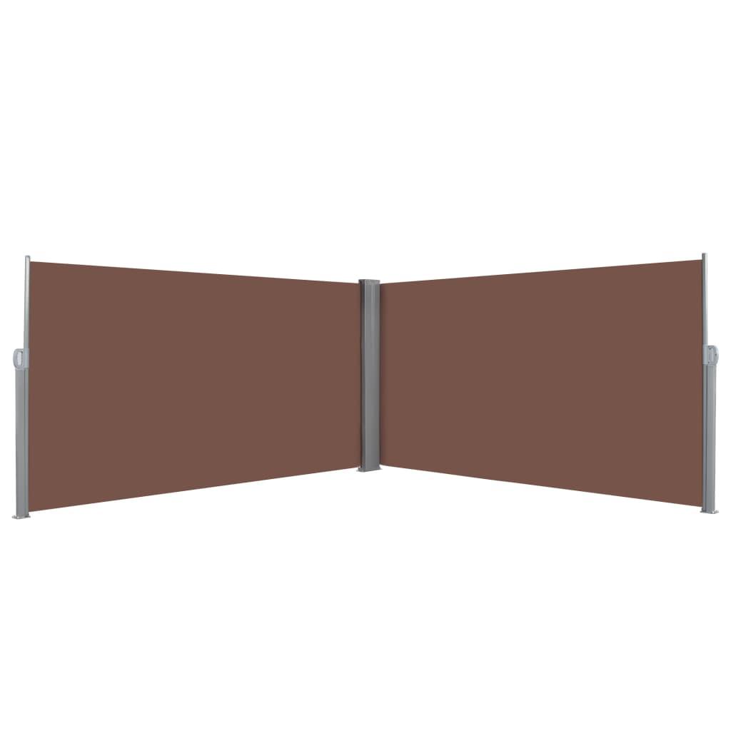 vidaXL Zatahovací boční markýza / zástěna 160 x 600 cm hnědá