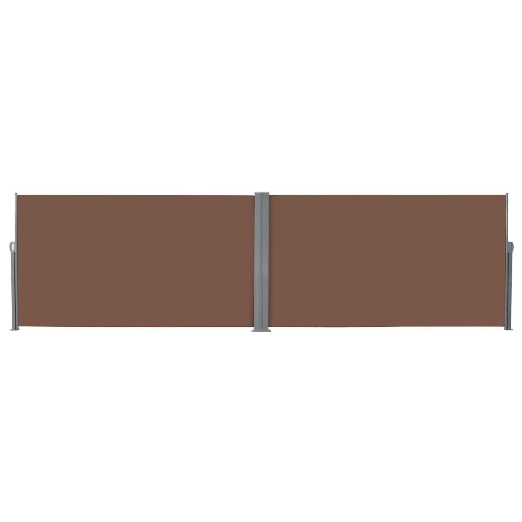 vidaXL Windscherm uittrekbaar 160x600 cm bruin