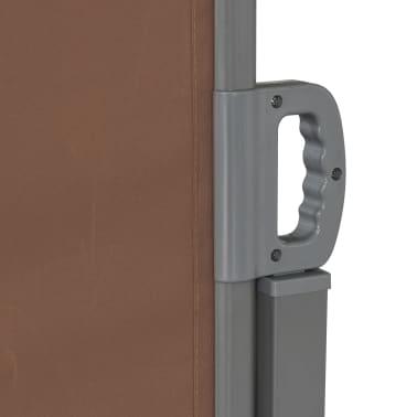 vidaXL Ausziehbare Seitenmarkise 160×600 cm Braun[4/8]