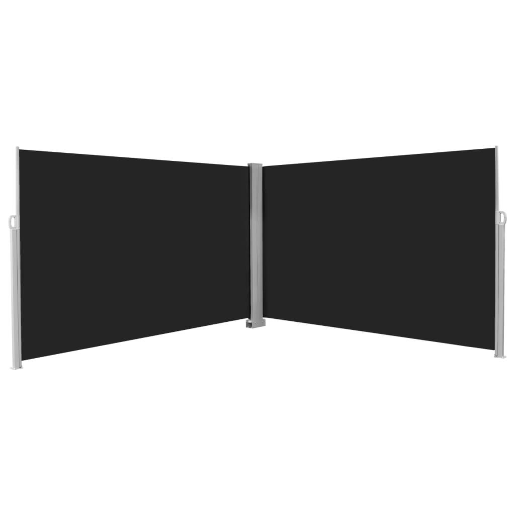 Zatahovací boční markýza / zástěna 200 x 600 cm černá
