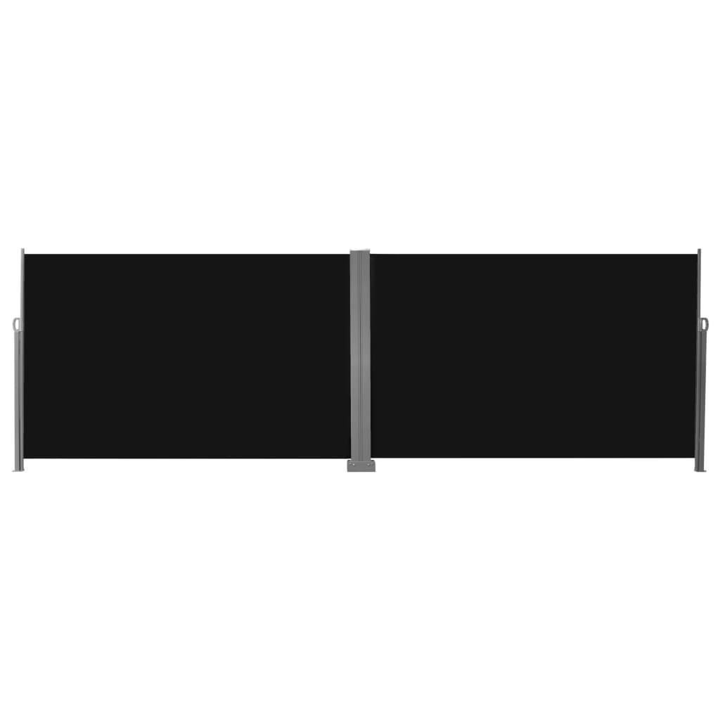 vidaXL Windscherm uittrekbaar 200x600 cm zwart