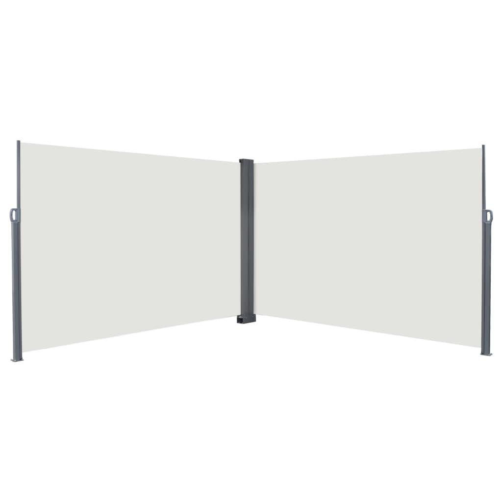 vidaXL Zatahovací boční markýza / zástěna 200 x 600 cm krémová