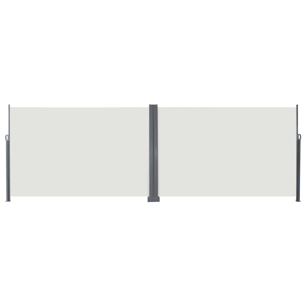 vidaXL Windscherm uittrekbaar 200x600 cm crème
