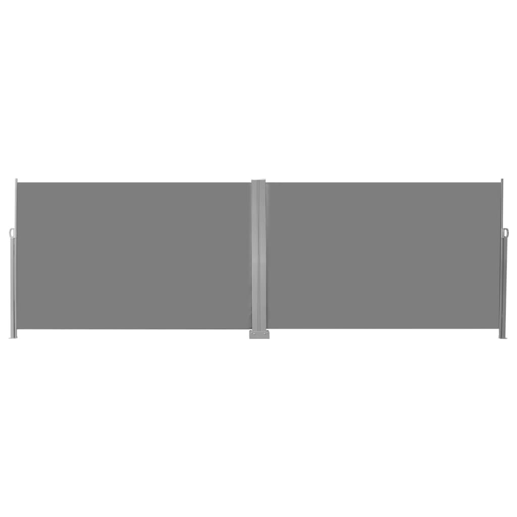 vidaXL Windscherm uittrekbaar 200x600 cm grijs