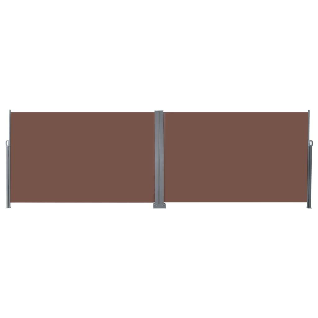 vidaXL Windscherm uittrekbaar 200x600 cm bruin