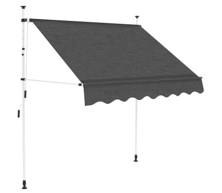 "vidaXL Manual Retractable Awning 59"" Anthracite"