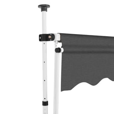 vidaXL Luifel handmatig uittrekbaar 400 cm antraciet[3/5]