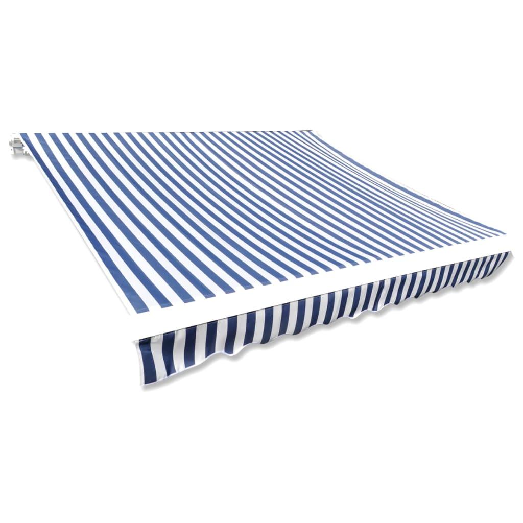 Plachta na markýzu plátno modro-bílá 350 x 250 cm