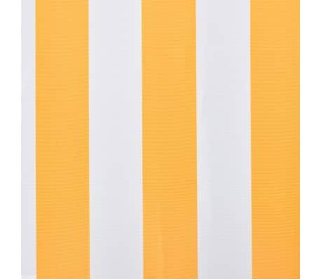 vidaXL Платнище за тента и сенник, оранжево и бяло, 450x300 см[3/4]