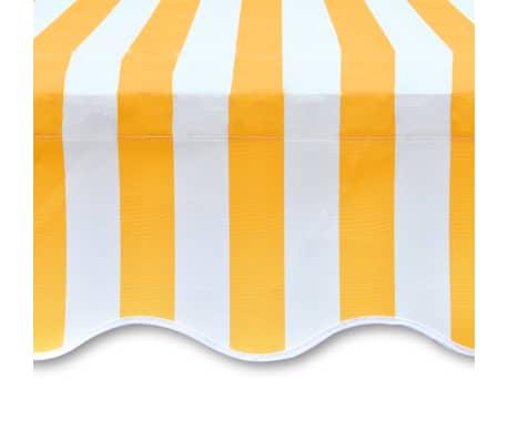 vidaXL Платнище за тента и сенник, оранжево и бяло, 450x300 см[4/4]