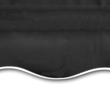 vidaXL Tieniaca plachta na markízu, plátená, antracitová 350x250 cm[4/4]