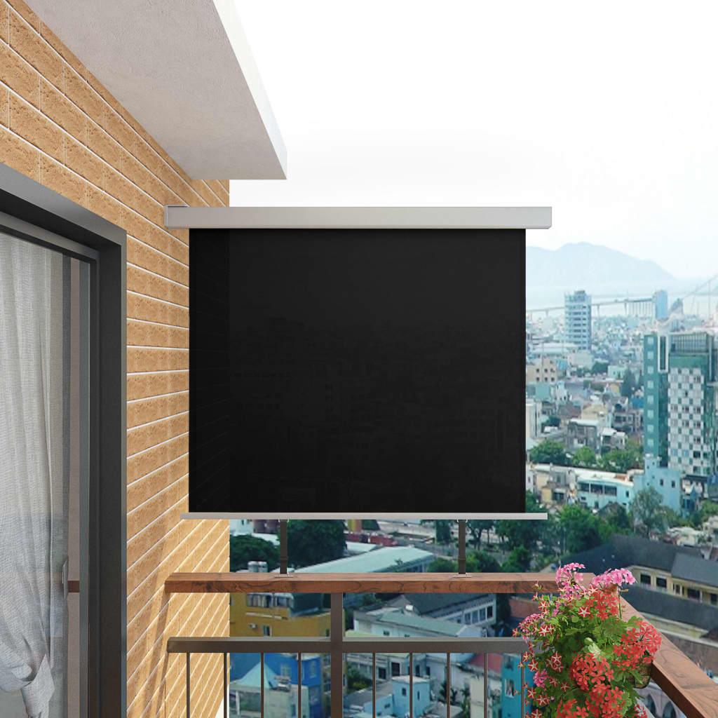 vidaXL Balkonová zástěna multifunkční 150 x 200 cm černá