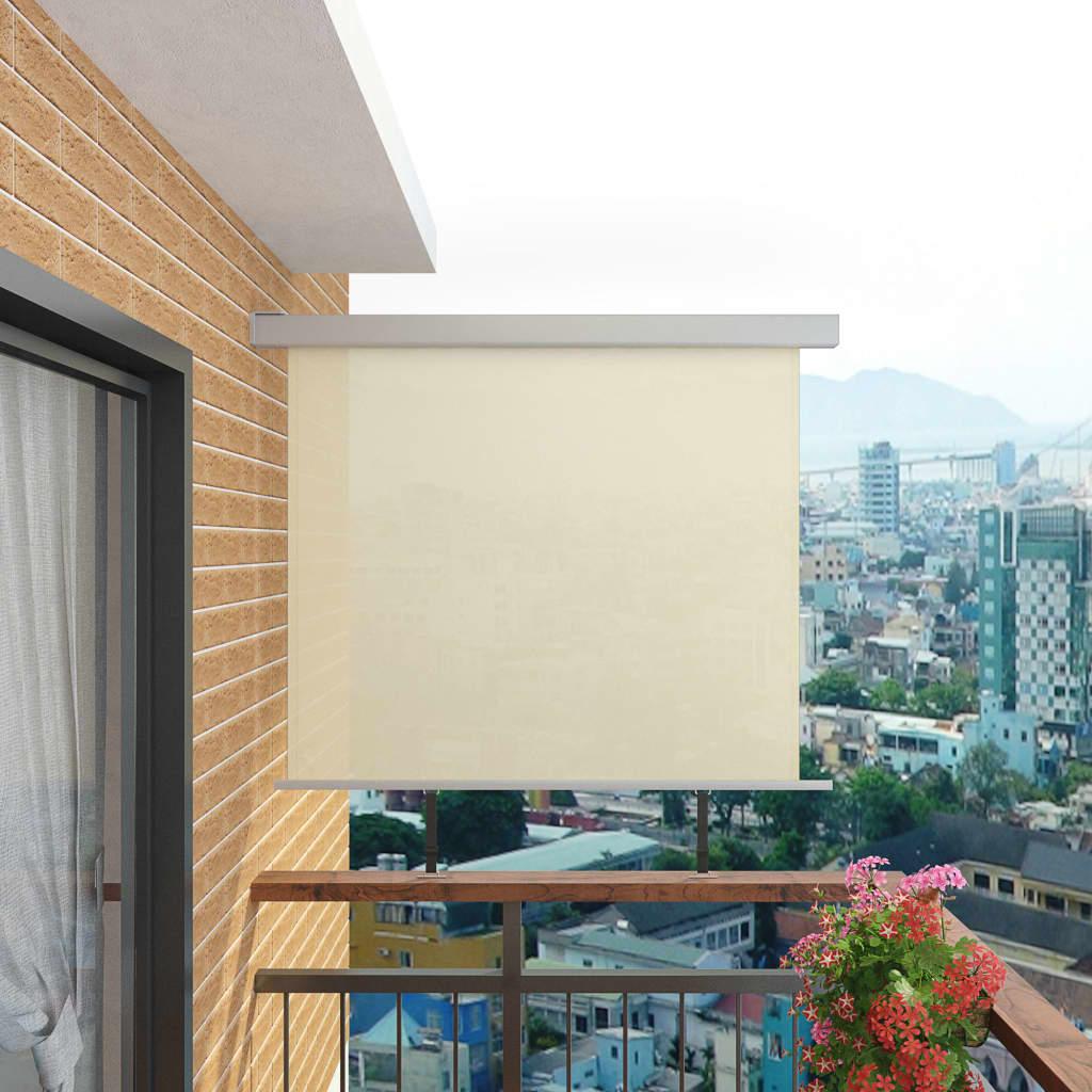 vidaXL Balkon zijluifel multifunctioneel 150x200 cm crème
