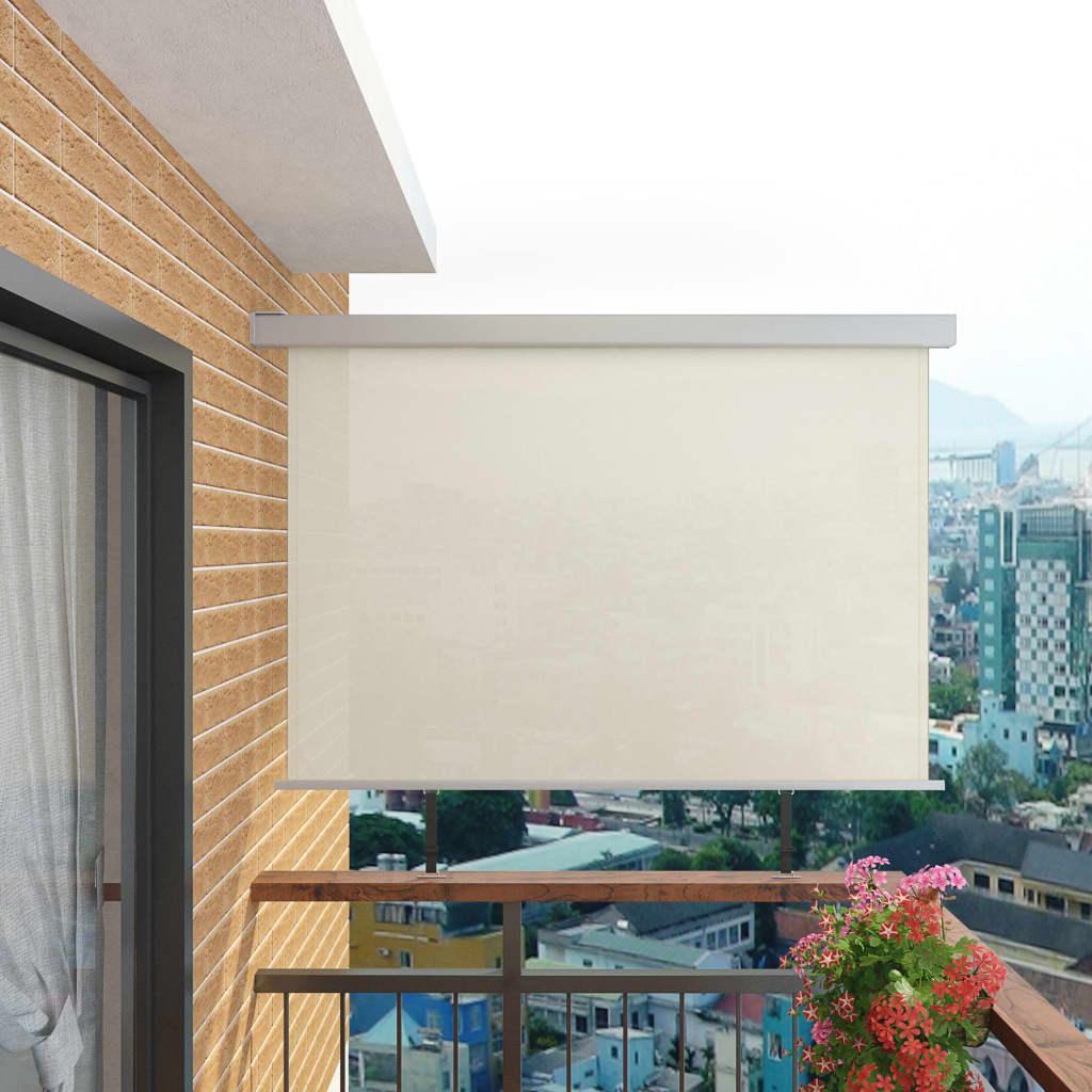 vidaXL Balkon zijluifel multifunctioneel 180x200 cm crème