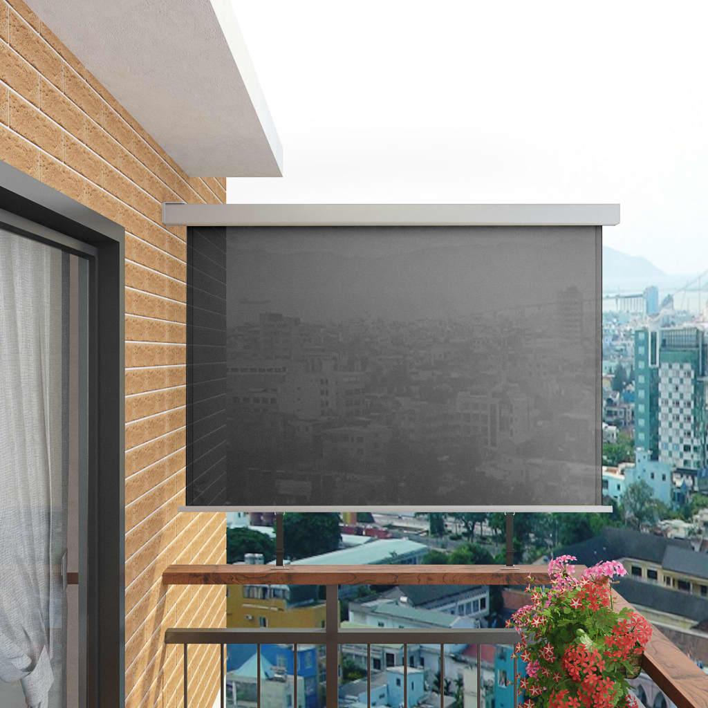 vidaXL Balkon zijluifel multifunctioneel 180x200 cm grijs