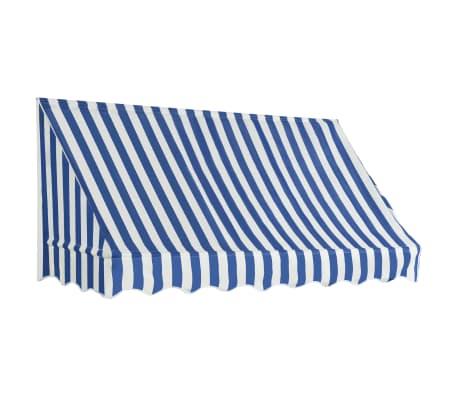 vidaXL bistromarkise 200 x 120 cm blå og hvid