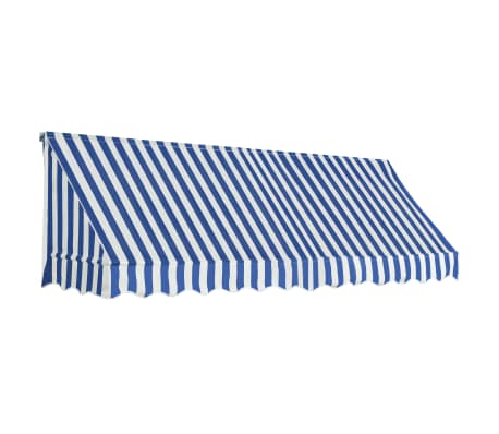 vidaXL Bistro Awning 300x120 cm Blue and White