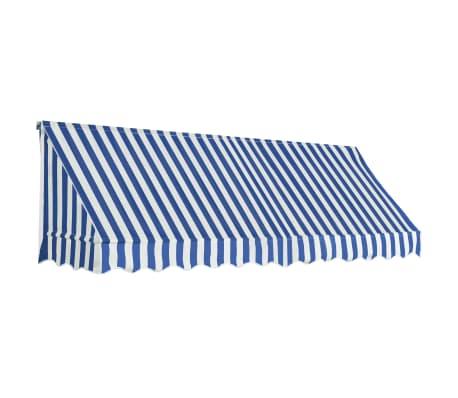 vidaXL Markis 300x120 cm blå och vit