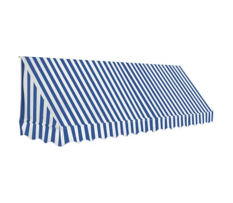 vidaXL Bistro Awning 350x120 cm Blue and White