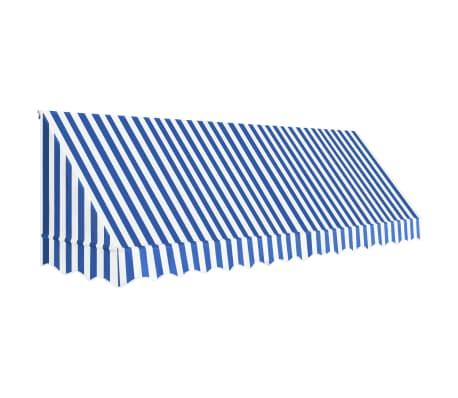 vidaXL Auvent de bistro 400x120 cm Bleu et blanc