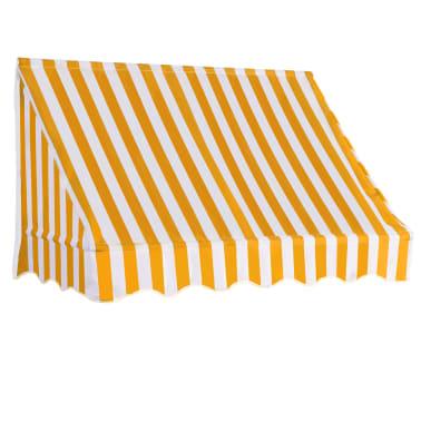 vidaXL Bistro-Markise Orange und Weiß 150 x 120 cm[1/6]