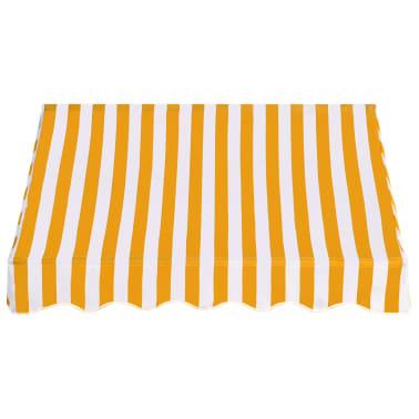 vidaXL Bistro-Markise Orange und Weiß 150 x 120 cm[2/6]