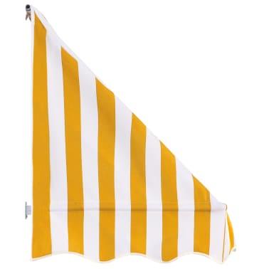 vidaXL Bistro-Markise Orange und Weiß 150 x 120 cm[3/6]