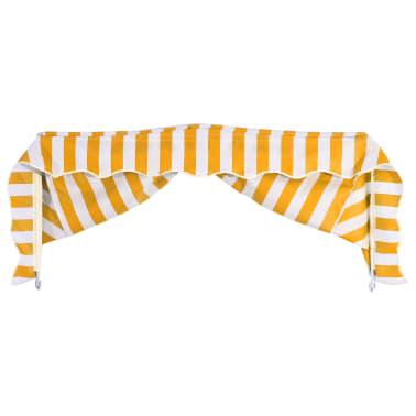 vidaXL Bistro-Markise Orange und Weiß 150 x 120 cm[4/6]